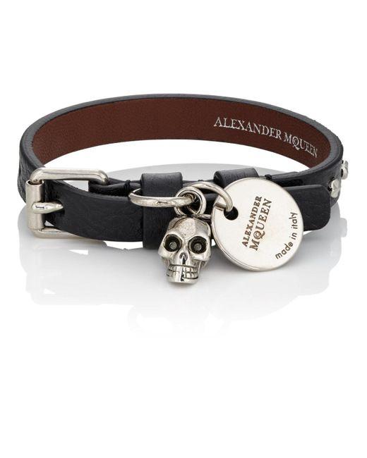 Alexander McQueen - Black Pioneer Wrap Bracelet for Men - Lyst