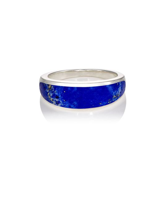 Pamela Love - Blue Inlay Cocktail Ring - Lyst