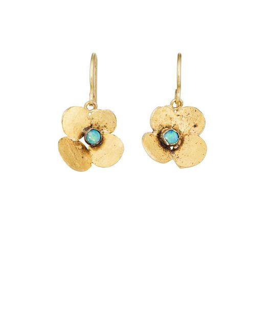 Judy Geib - Metallic Hydrangea Drop Earrings - Lyst