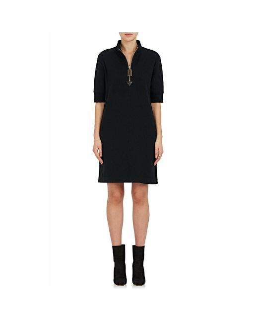 Marc Jacobs - Black Cotton Terry Sweatshirt Dress - Lyst