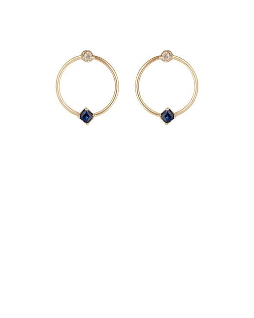 Loren Stewart - Multicolor Mixed Gemstone Circle Studs - Lyst