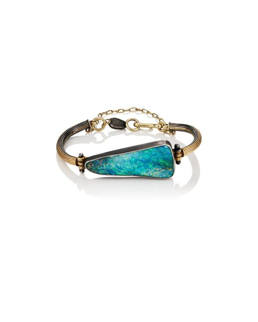 Judy Geib - Metallic Triangular Opal & Mixed-metal Bracelet - Lyst