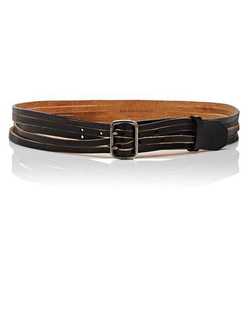 Saint Laurent - Black Aviator Leather Belt Size 75 - Lyst