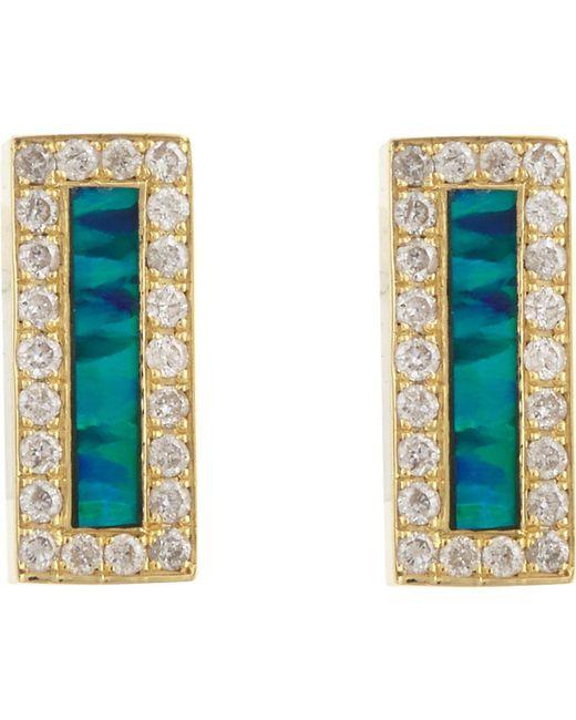 Jennifer Meyer | Metallic Small Bar Stud Earrings | Lyst