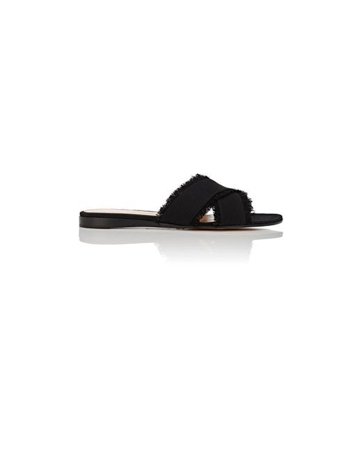 Gianvito Rossi - Black Barth Denim Slide Sandals - Lyst