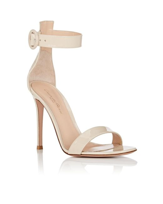 efdbb9015d8 ... Gianvito Rossi - Natural Portofino Patent Leather Ankle-strap Sandals -  Lyst ...