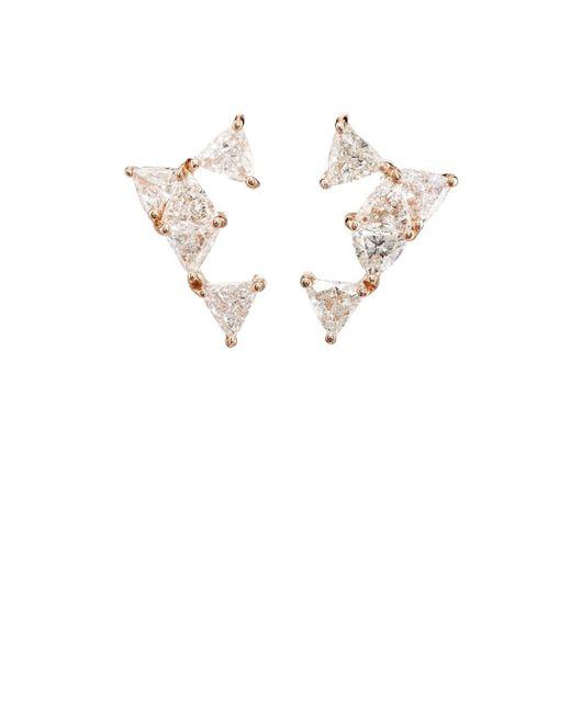 Nak Armstrong - White Diamond Stud Earrings - Lyst