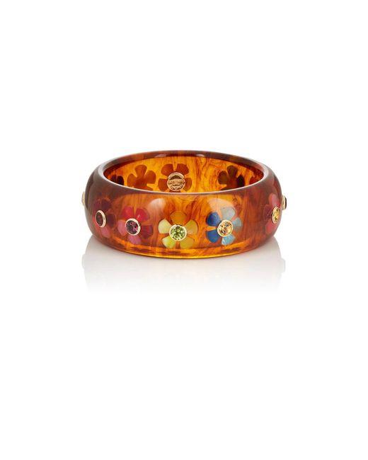 Mark Davis - Orange Floral Bakelite Bangle - Lyst