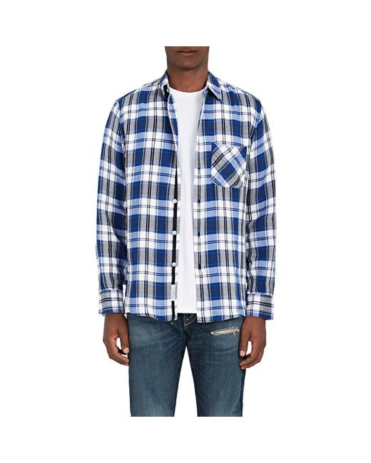 Rag & Bone | Blue Beach Plaid Cotton Shirt for Men | Lyst