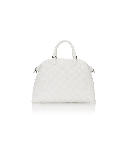 Bottega Veneta | White Intrecciato Medium Convertible Tote | Lyst