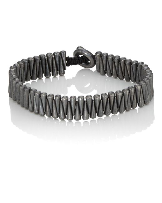M. Cohen - Black Sterling Silver Cone Bracelet - Lyst
