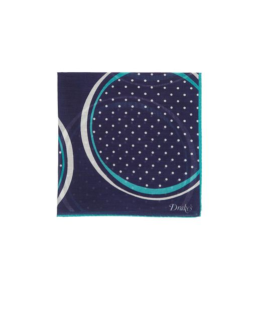 Drake's | Blue Dotted Circle for Men | Lyst