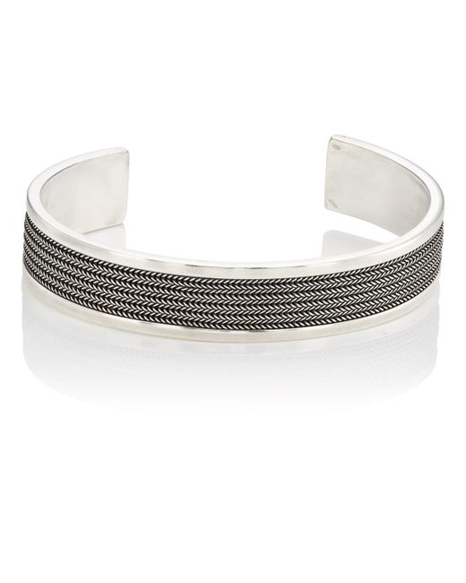 Emanuele Bicocchi - Metallic Sterling Silver Layered Cuff for Men - Lyst