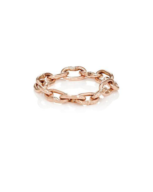 Dean Harris - Metallic Heavy Chain Ring for Men - Lyst