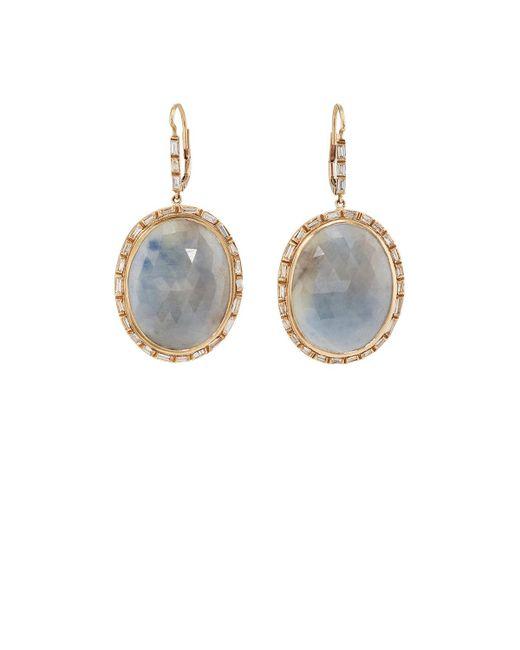 Zoe - Multicolor Sapphire & Diamond Drop Earrings - Lyst