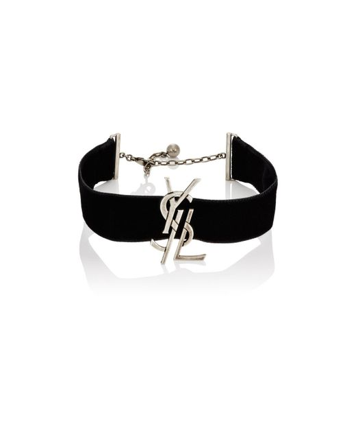 Saint Laurent | Metallic Monogram Choker | Lyst