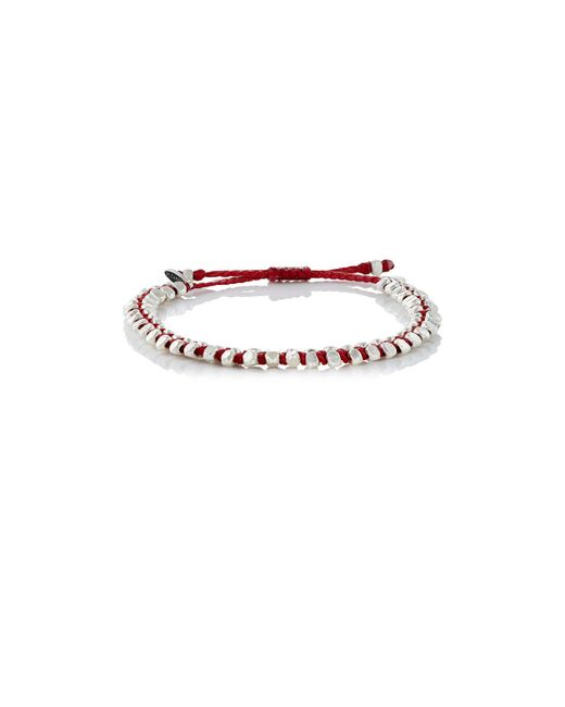 M. Cohen - Red Beaded Waxed Cord Bracelet - Lyst