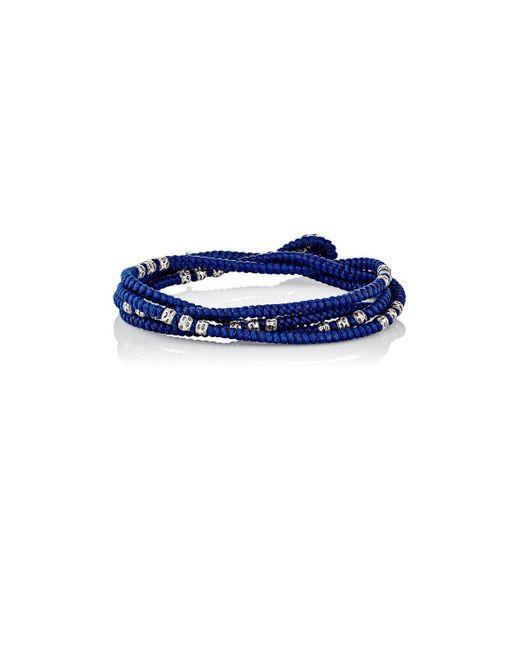 M. Cohen - Blue Knotted Wrap Bracelet for Men - Lyst