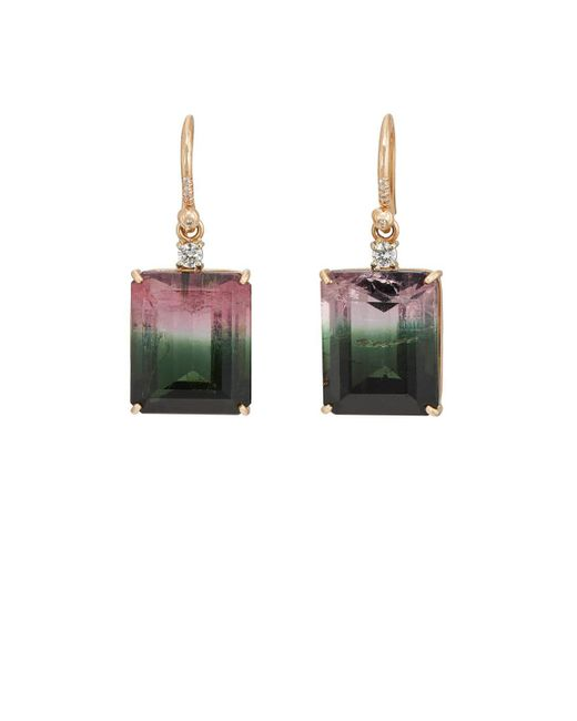 Irene Neuwirth | Green Watermelon Tourmaline & Diamond Drop Earrings | Lyst