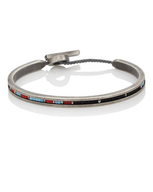 M. Cohen - Black Ceramic & Sterling Silver Bracelet for Men - Lyst