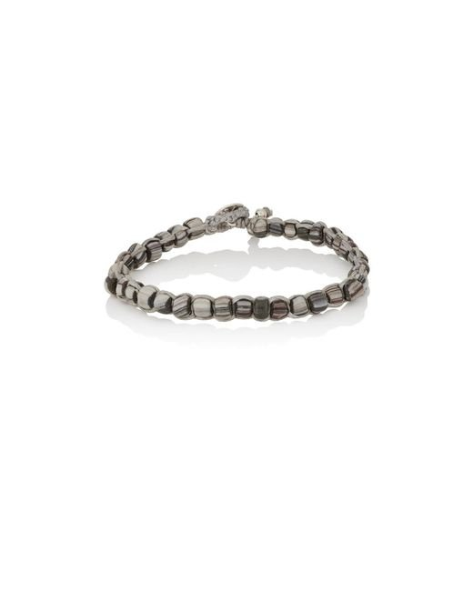 Caputo & Co. | Gray Beaded Waxed Cord Bracelet for Men | Lyst