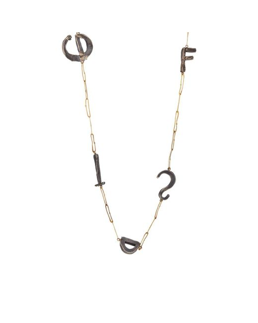 Judy Geib - Metallic Alphabet Station Necklace - Lyst