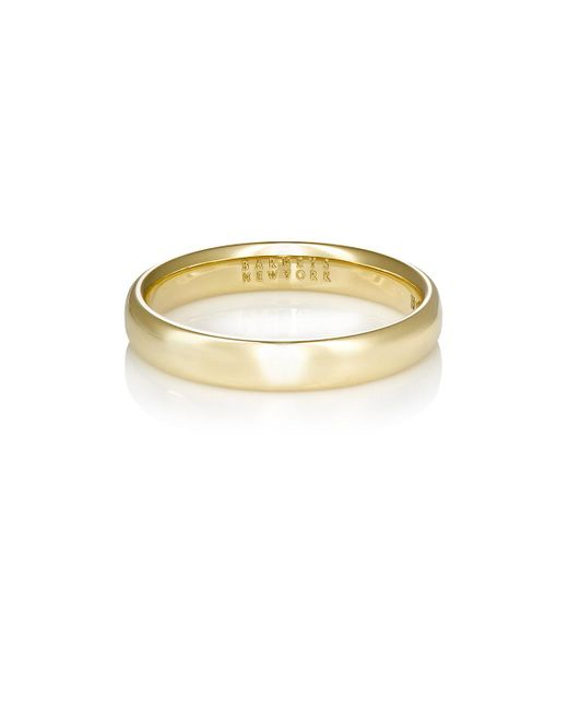 Barneys New York - Metallic Thin Domed Band - Lyst