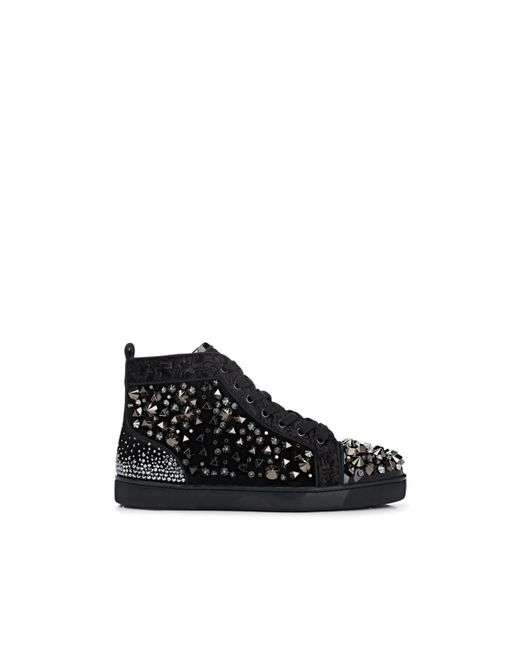 Christian Louboutin - Black Louis Flat Mixed Fabric Sneakers for Men - Lyst