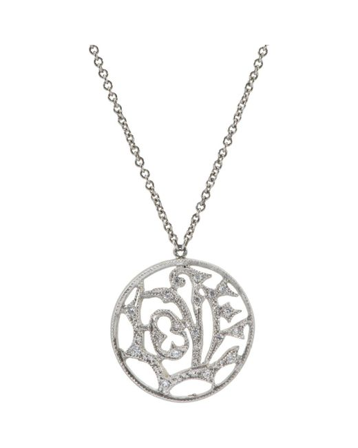 Cathy Waterman | Metallic Love Pendant Necklace | Lyst