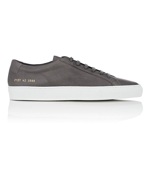 88b6474906a34 Common Projects - Gray Original Achilles Grained Leather Sneakers for Men -  Lyst ...
