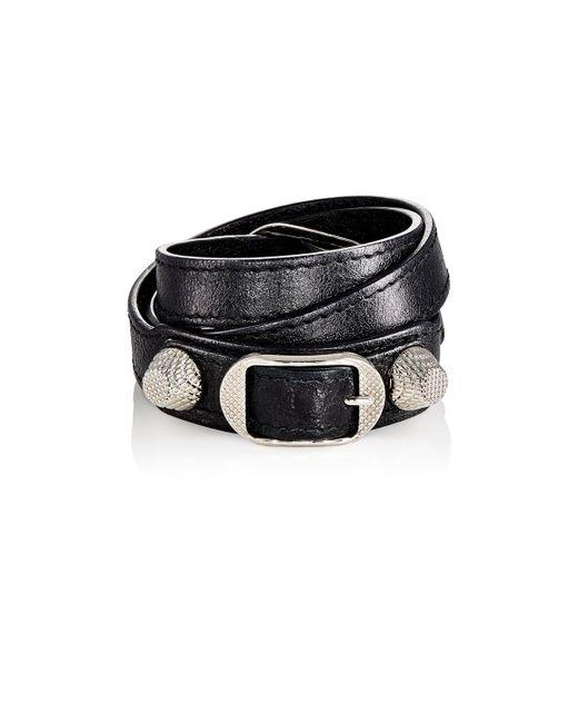 Balenciaga | Black Arena Giant Double Tour Bracelet | Lyst