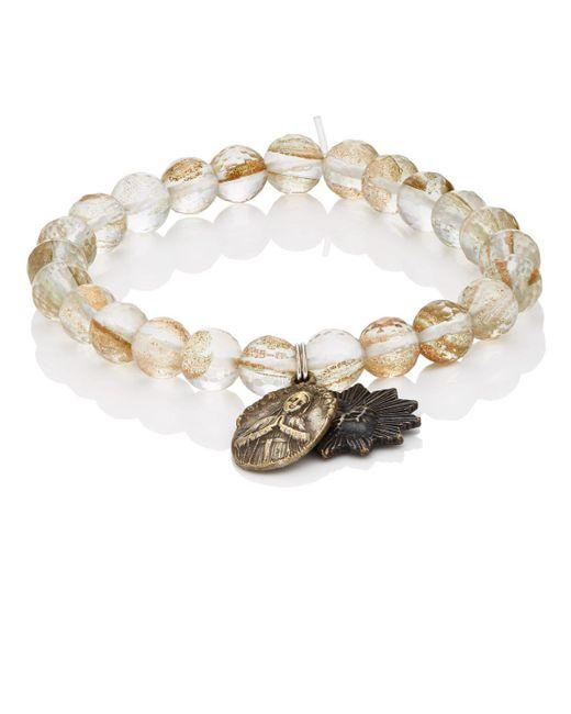 Miracle Icons | Metallic Spiritual Icon Charms On Beaded Bracelet | Lyst