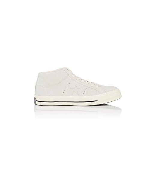 Converse | White one Star '74 Vintage Suede Sneakers | Lyst
