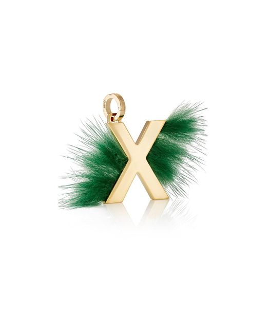 Fendi - Metallic Abclick X Bag Charm - Lyst
