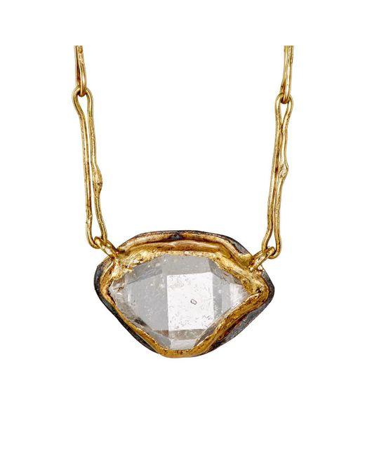 Judy Geib - Metallic Marquise Pendant Necklace - Lyst