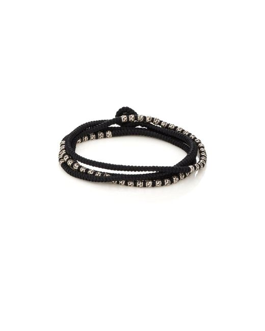 M. Cohen - Black Beads On Knotted Cord Wrap Bracelet for Men - Lyst