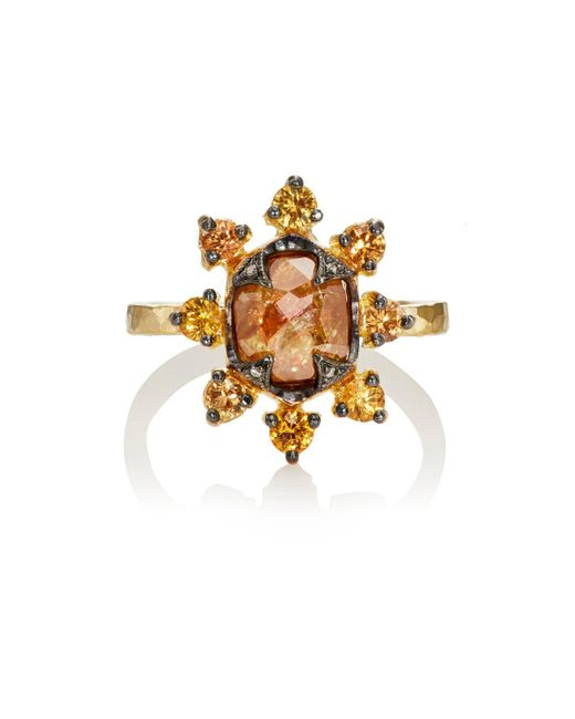 Cathy Waterman | Metallic Starburst Ring | Lyst