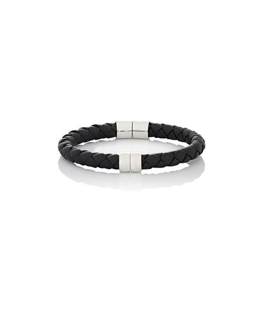 Bottega Veneta - Black Leather Hinged Bracelet for Men - Lyst