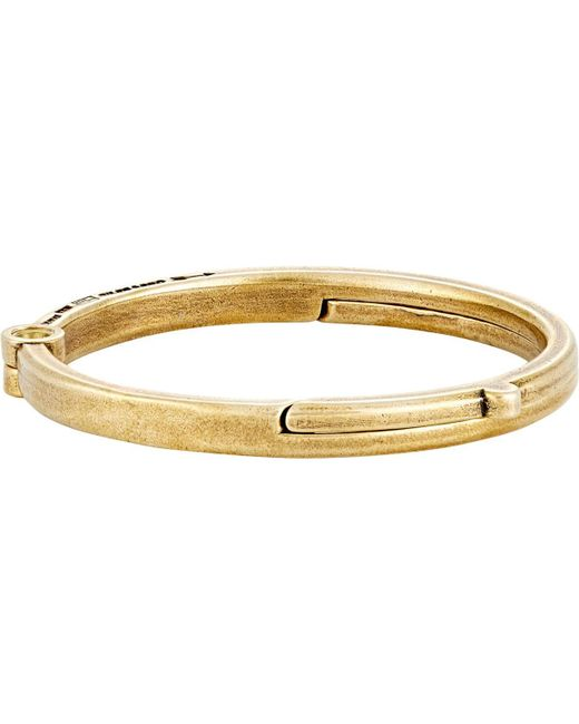 Giles & Brother - Metallic Latch Cuff Bangle for Men - Lyst