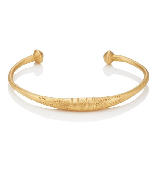Eli Halili - Metallic Engraved Tapered Cuff - Lyst