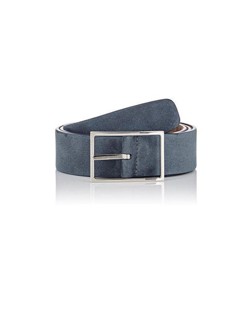 Simonnot Godard - Blue Nubuck Belt for Men - Lyst