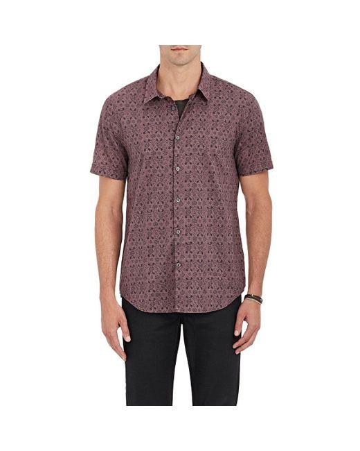 John Varvatos | Purple Floral Cotton Shirt for Men | Lyst