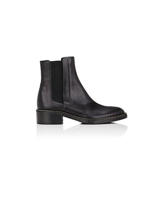 Barneys New York - Black Chain-embellished Leather Chelsea Boots - Lyst