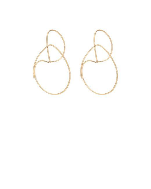 Hirotaka - Metallic Yellow Gold Wire Hoop Earrings - Lyst