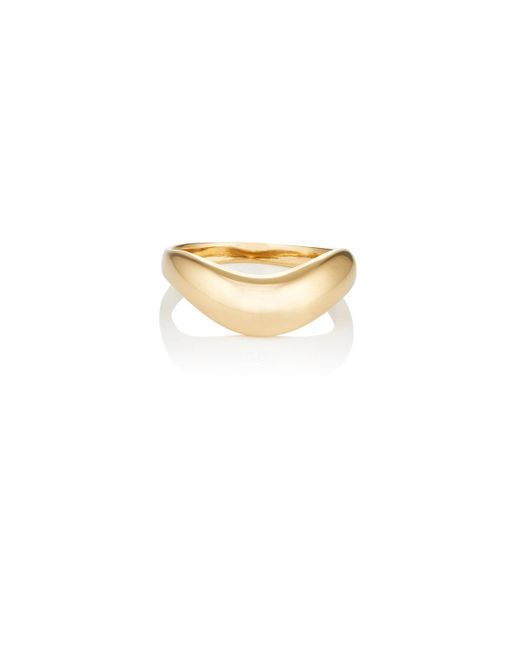 Agmes - Metallic Wave Ring - Lyst