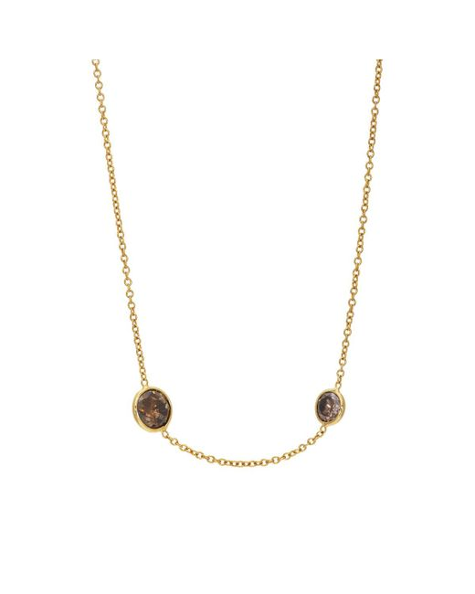 Renee Lewis - Multicolor Brown Diamond Chain Choker - Lyst