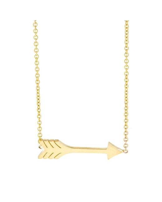 Jennifer Meyer - Metallic Arrow Pendant Necklace - Lyst