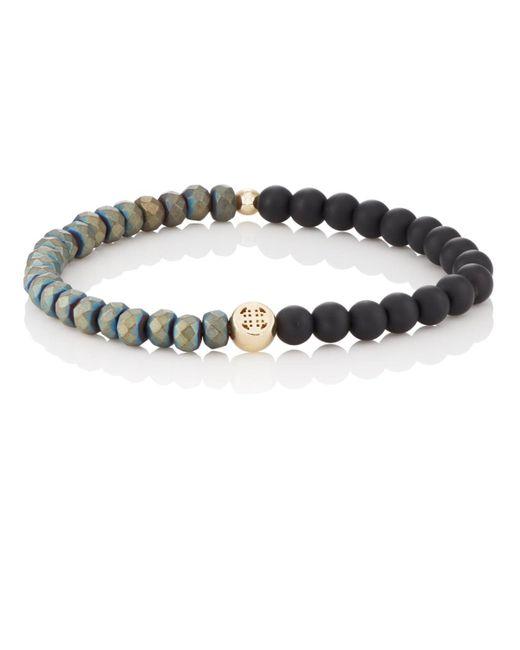 Luis Morais - Multicolor Suncross Charm Beaded Bracelet for Men - Lyst
