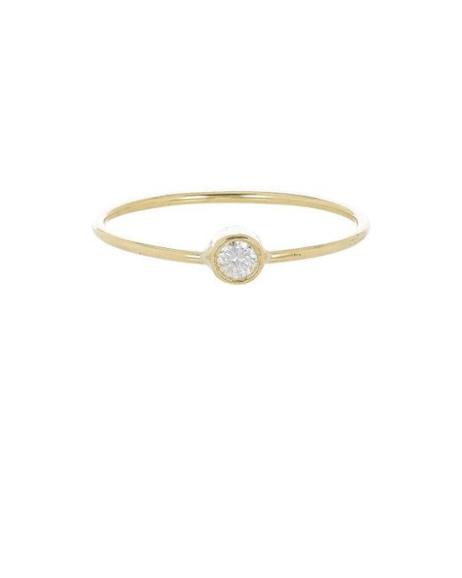 Jennifer Meyer - Metallic Diamond Bezel Ring - Lyst