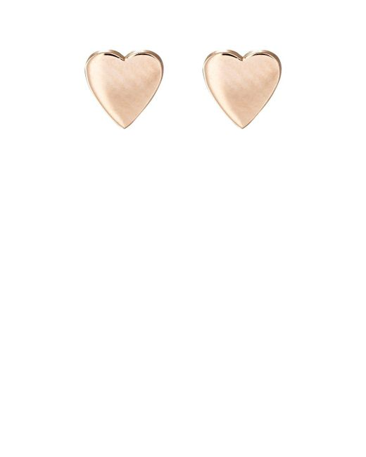 Jennifer Meyer | White Heart Studs | Lyst